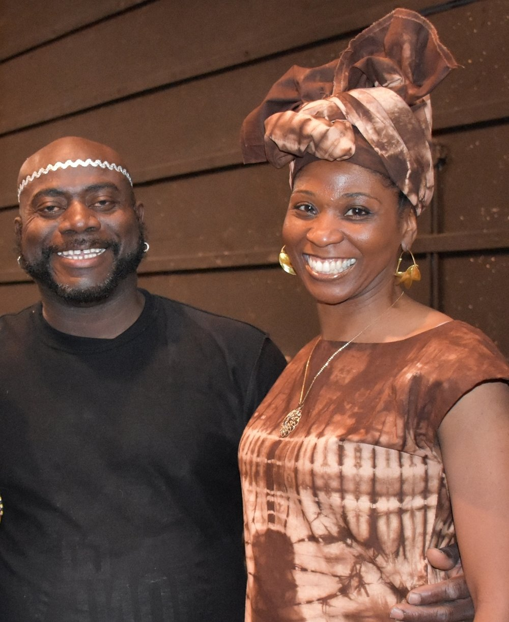 Farcia's teacher and advisor, Nimely Napla (Director of Nimely Pan African Dance Company)