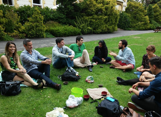 One of our informal sessions on campus (University of Auckland)