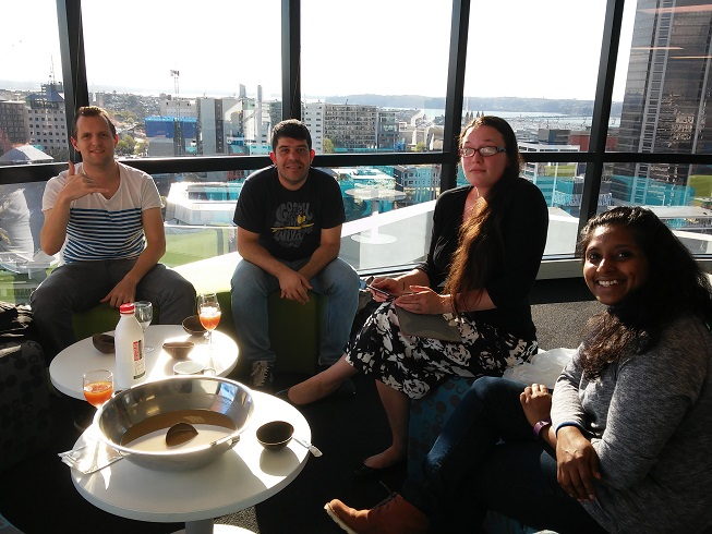 A quick after-work session at the Auckland University of Technology