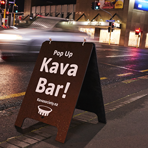 Our sign in front of Craft Kitchen cafe (Ponsonby)