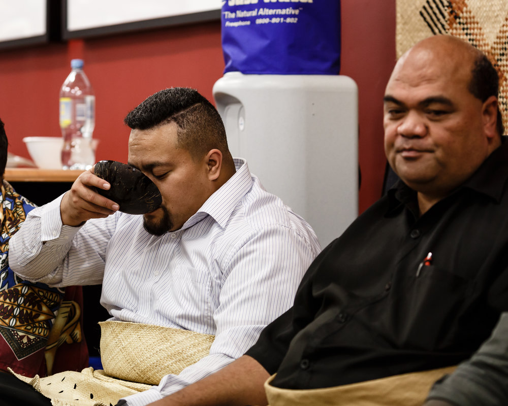 A kava ceremony following the 2017 Waikato University kava conference/workshop (photo by Todd Henry)