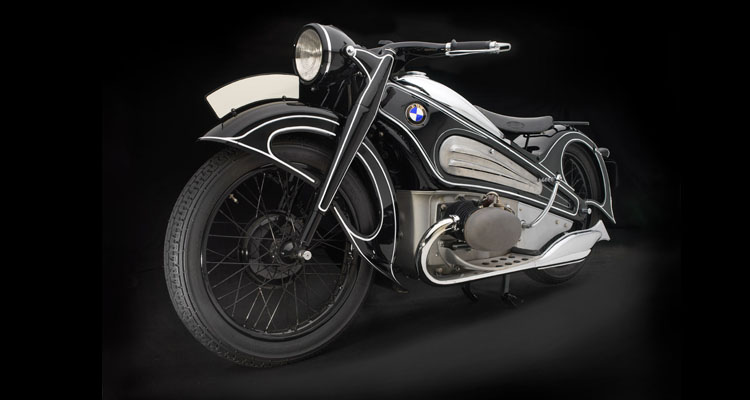BMW, R7 Concept Motorcycle, 1934. Photo: Peter Harholdt. BMW's sleek, streamlined, one-of-a-kind R7 Concept Motorcycle appeared at major shows in Germany in 1934, then was crated up and lost until it was discovered in 2005, and restored by BMW craftsmen. Highly advanced for its day, with a pressed steel frame and full bodywork, the R7 is a remarkable survivor—and a bike that was well before its time.