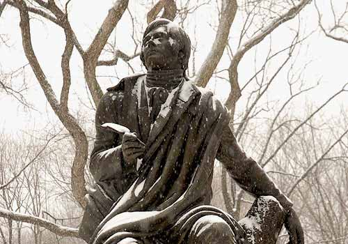 Statue of Robert Burns, Central Park, NYC