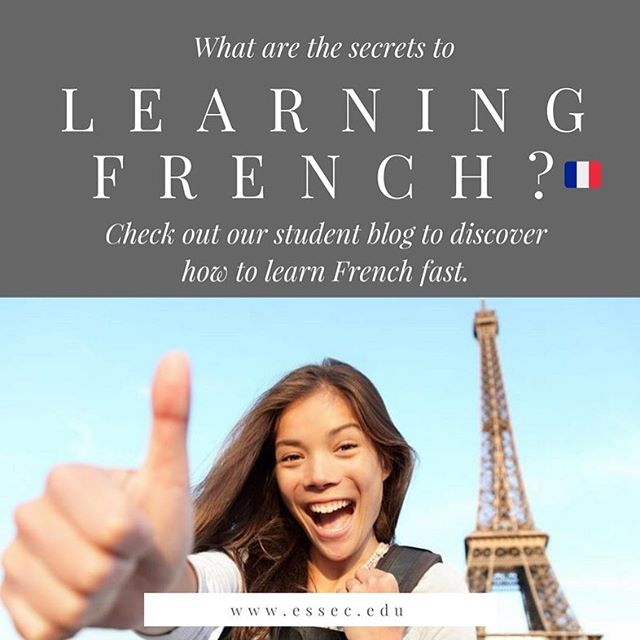 Learning French can be hard...But guess what? We got the insider secrets to make sure that students learn French fast. Check out our latest student blog to discover the best ways to start speaking French in no time. 😍🇲🇫️⚡ #france #learnfrench #essec #grandeecole #paris #cergy #essecbusinessschool #student #language #frenchiesofinstagram