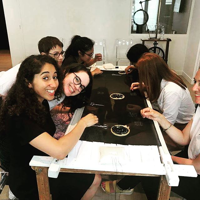On June 1st, students participating in the LVMH chair were invited to visit École Lesage, founded by Maison Lesage, part of Chanel's Métiers d'Arts. On that occasion, they had the chance to discover the world of embroidery and to experiment it themselves creating their own little masterpieces. What an amazing experience!!! 👏 #essec #lvmh #lvmhchair #grandeecole #maisonlesage #ecolelesage #chanel #metierdarts #luxe #student #studentlife