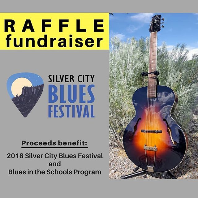 Silver City Blues Festival Raffle Fundraiser Benefits 2018 Silver City Blues Festival and Blues In The Schools program $5 Raffle Tickets. Tickets available online and at the Mimbres Region Arts Council booth (adjacent to stage) during the festival.  Drawings for the 6 prizes will be held beginning Saturday evening and ending Sunday. --------------------------------------------------------- You need not be present to win. -------------------------------------------------------- Support the Blues Festival and Blues in the Schools!  Get more info about the prizes and a link to purchase tickets online.  http://bit.ly/2018RafflePrizes --------------------------------------------------- #visitSilverCity #SilverCityNM  #Blues #BluesandBigSky  #bluesmusic# LiveBlues #BluesFestival  #Harmonica #BluesHarp  #livemusic #musicfestival #stillFREE  #Ruralarts #Smalltownlife #creativecommunity#music #familyfun  #musicinthepark  #GrantCountyNM #NewMexicoTRUE #NewMexico #Enchanted  Promotion paid in part by Silver City Lodger's Tax