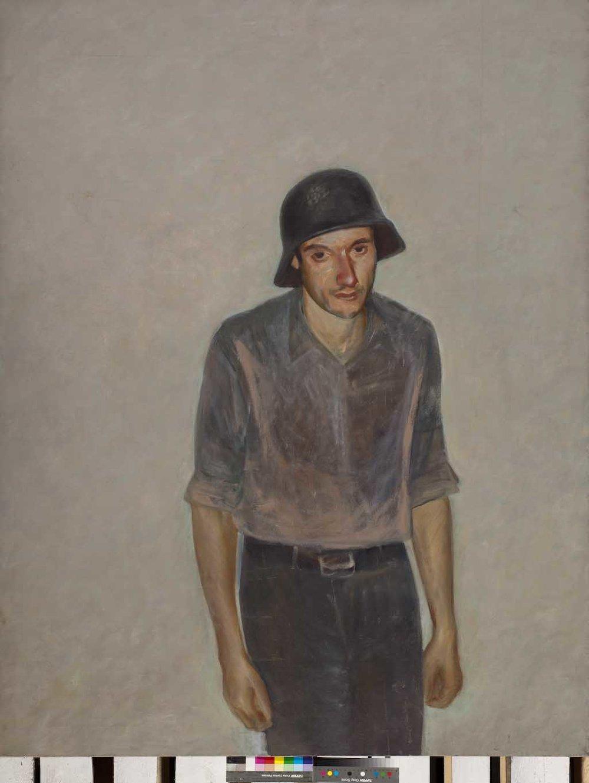 Владимир Дубосарский  Автопортрет в немецкой каске