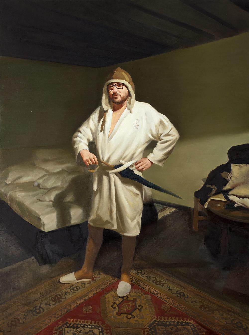 Владимир Дубосарский   Автопортрет в Таллинне 1 (Ночной дозор)