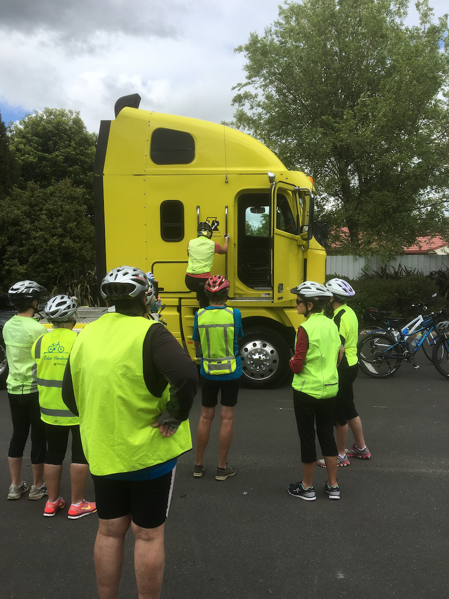 Cyclist Workshops + Blind zone events - CAN Share the road workshops equip people round NZ with the knowledge and skills to safely use their bikes for day-to-day trips, even where larger vehicles are encountered.