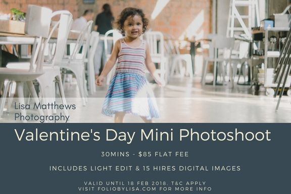 Get a one-time Valentine's Day mini photoshoot for only $85.