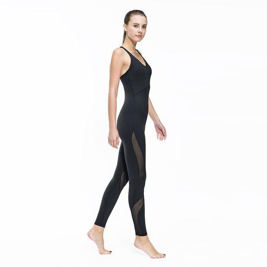 Mesh insert fitness bodysuit R750.00 - Color:White,Black