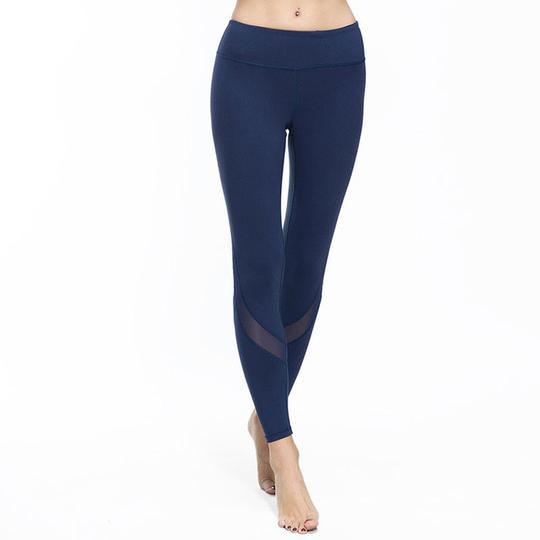 Mesh insert yoga leggings R500.00 - Color:White,Black,Dark Blue