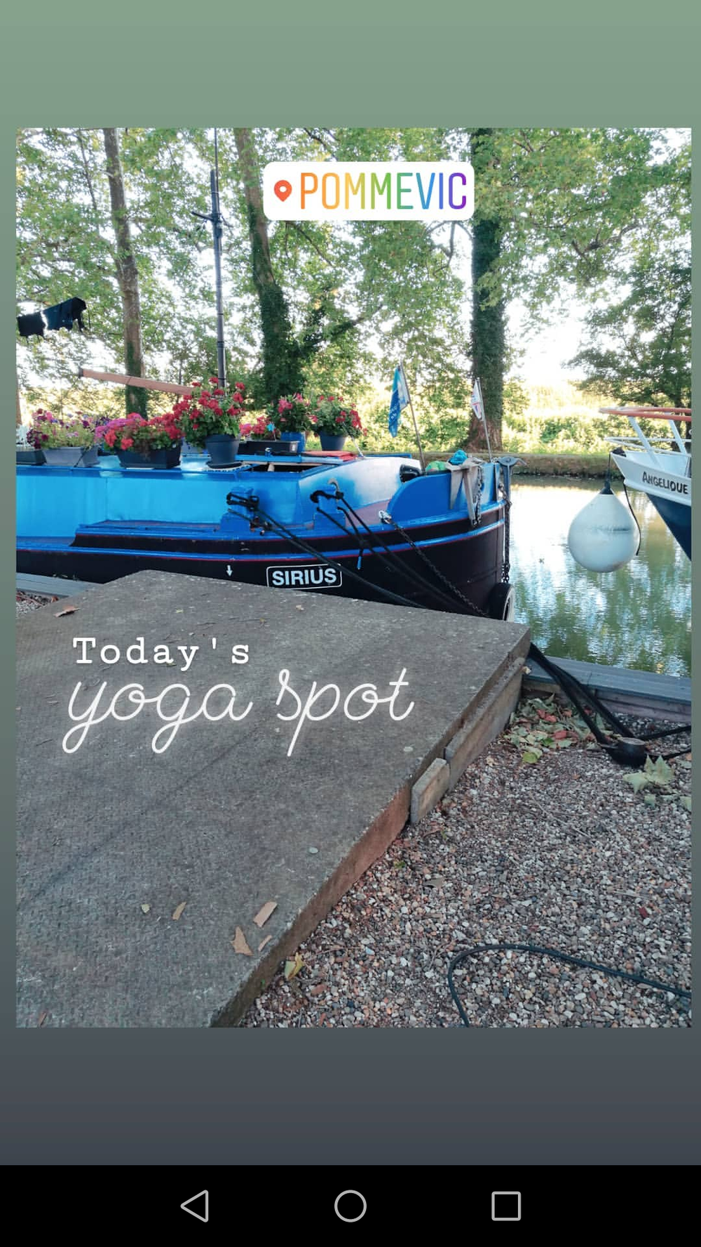 Finding creative yoga spots