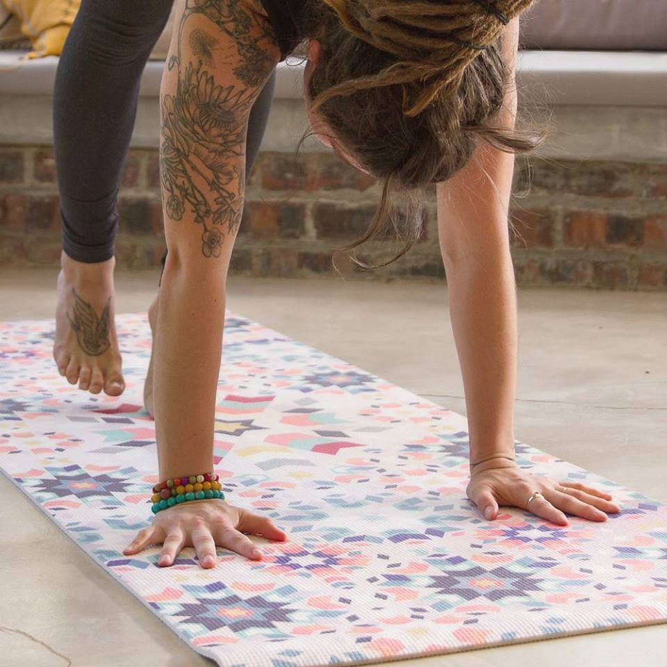 The Foam Mat - R595.00 - extra-length at 183cm x 61cm. 6mm thick and weighs 1.8kgsmade of phthalate and SCCP free PVC. printed using non-toxic, solvent free UV cured inksbest for non-sweaty yoga practices
