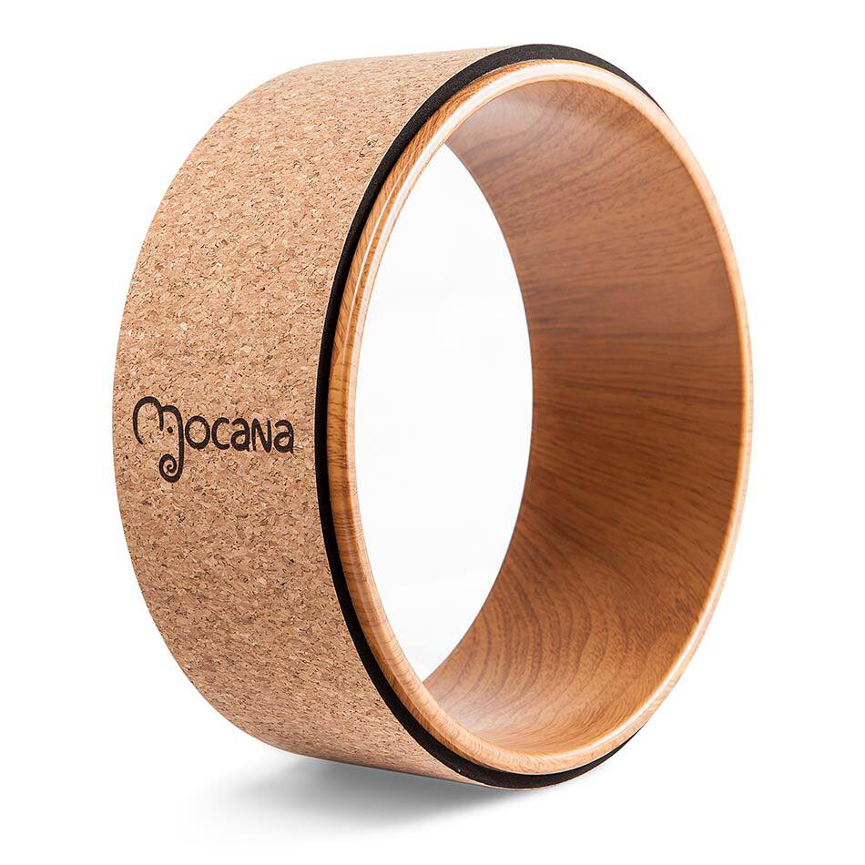 The Mocana Yoga Wheel - THE MOCANA YOGA WHEEL IS A FUN AND VERSATILE TOOL. NOT ONLY DOES IT HELP STRENGTHEN YOUR CORE, IT ALSO AIDS IN OPENING THE CHEST, SHOULDERS, BACK AND HIPS. IT FEATURES A SOFT, GRIPPY OUTER LAYER MADE OF 100% SUSTAINABLY SOURCED CORK FOR COMFORT AND SUPPORT.