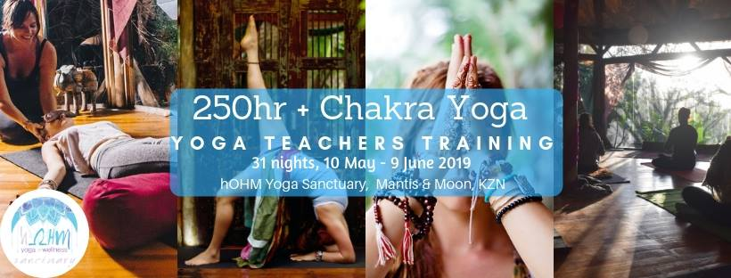 Hosted by hOHM Yoga Sanctuary, Umzumbe - Course Fee: R24 000Early Bird: (before 15 March) R15 000