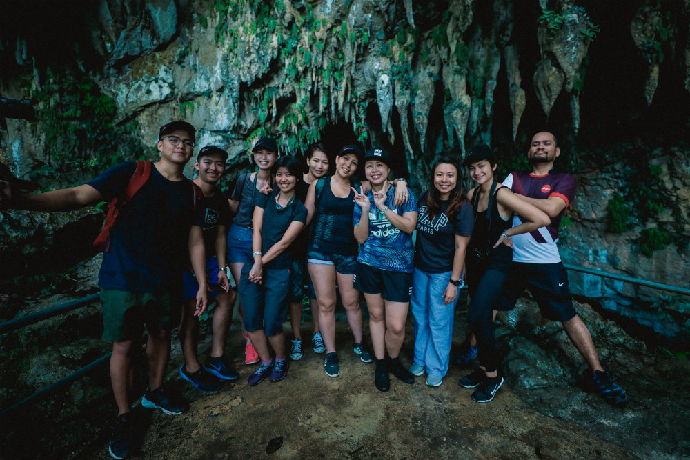 Though we didn't come for adventure caving, we still had a good workout walking up and down the caves.