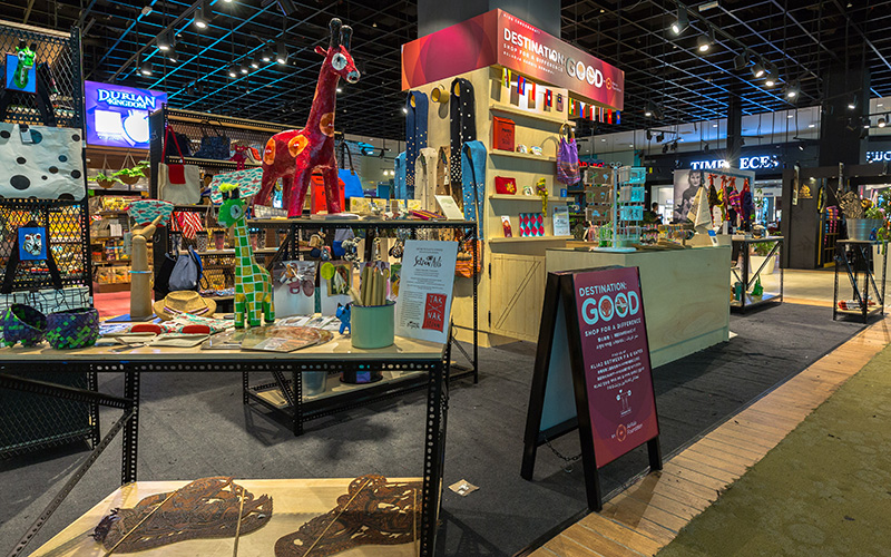 Destination: GOOD pop-up@klia2 is located at the departure hall between P&Q gates.