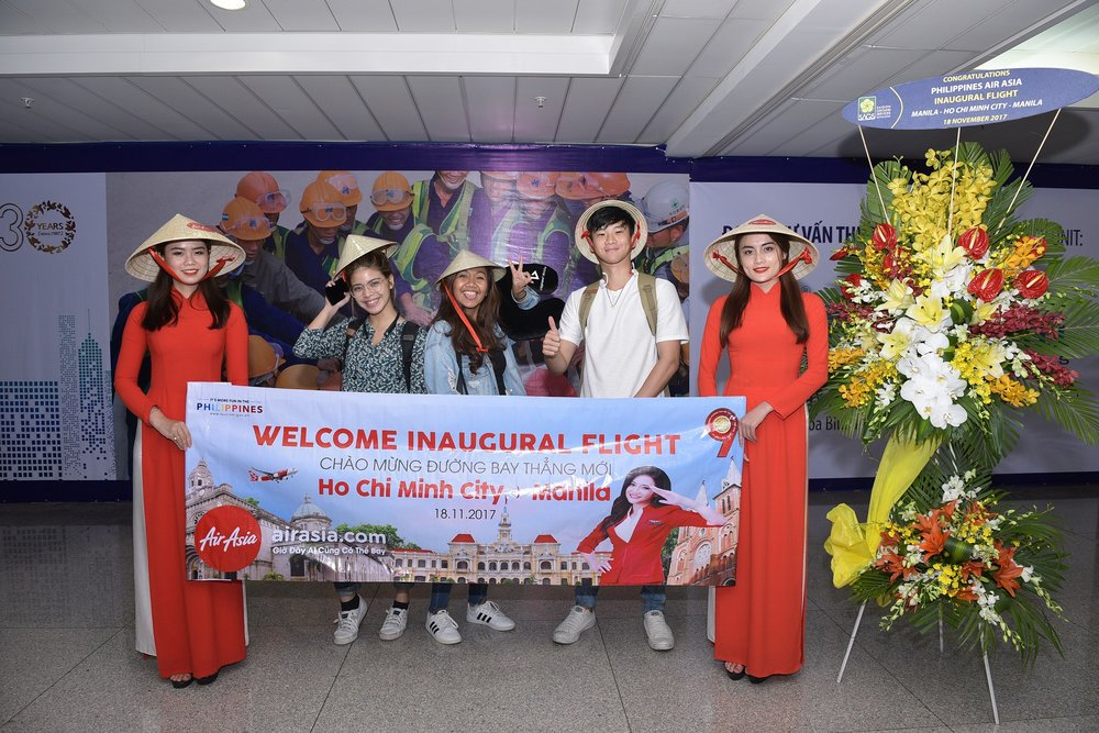 11 AirAsia celebrates inaugural flight from Ho Chi Minh City to Manila_1.JPG