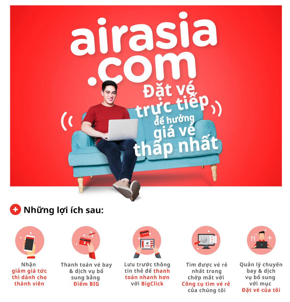 Đặc quyền du lịch dành cho thành viên AirAsia