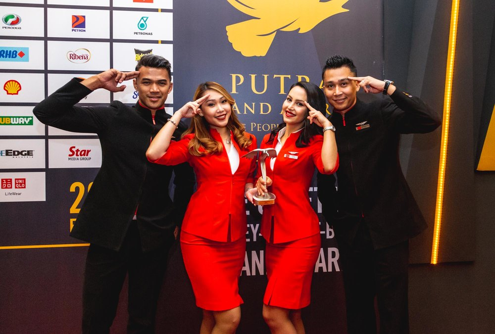AirAsia raih anugerah emas di Anugerah Jenama Putra 2018 bagi tahun kesembilan berturut-turut