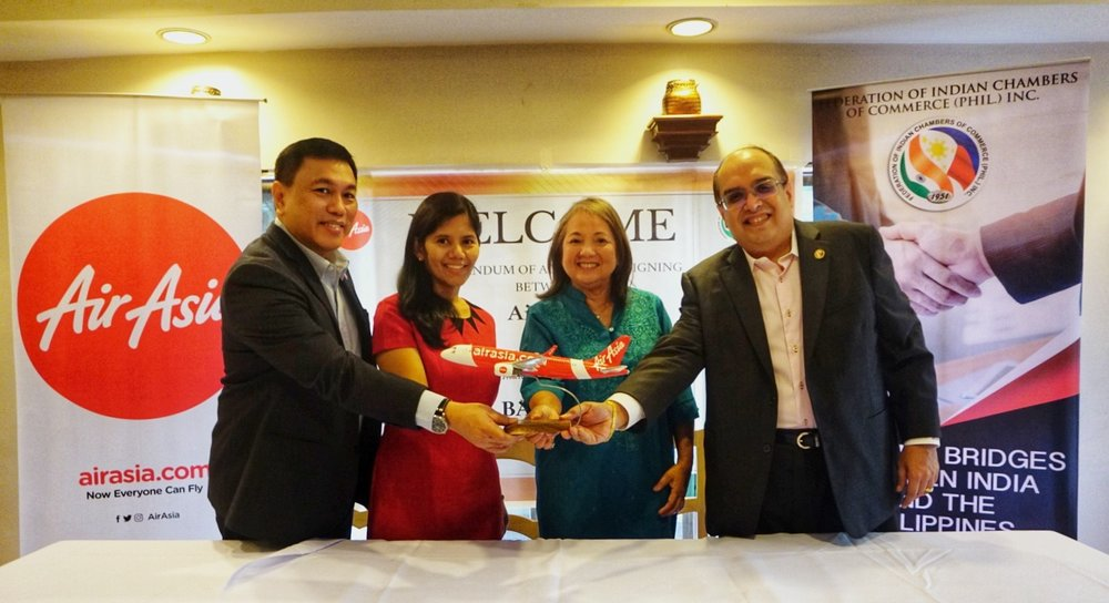 Photo Caption:  (L-R) AirAsia Philippines CEO Captain Dexter Comendador, President Hold On Pain Ends (HOPE) For Children Ms. Nina Mahler, AirAsia Philippines Chairperson Maan Hontiveros and FICCI President Rex Daryanani