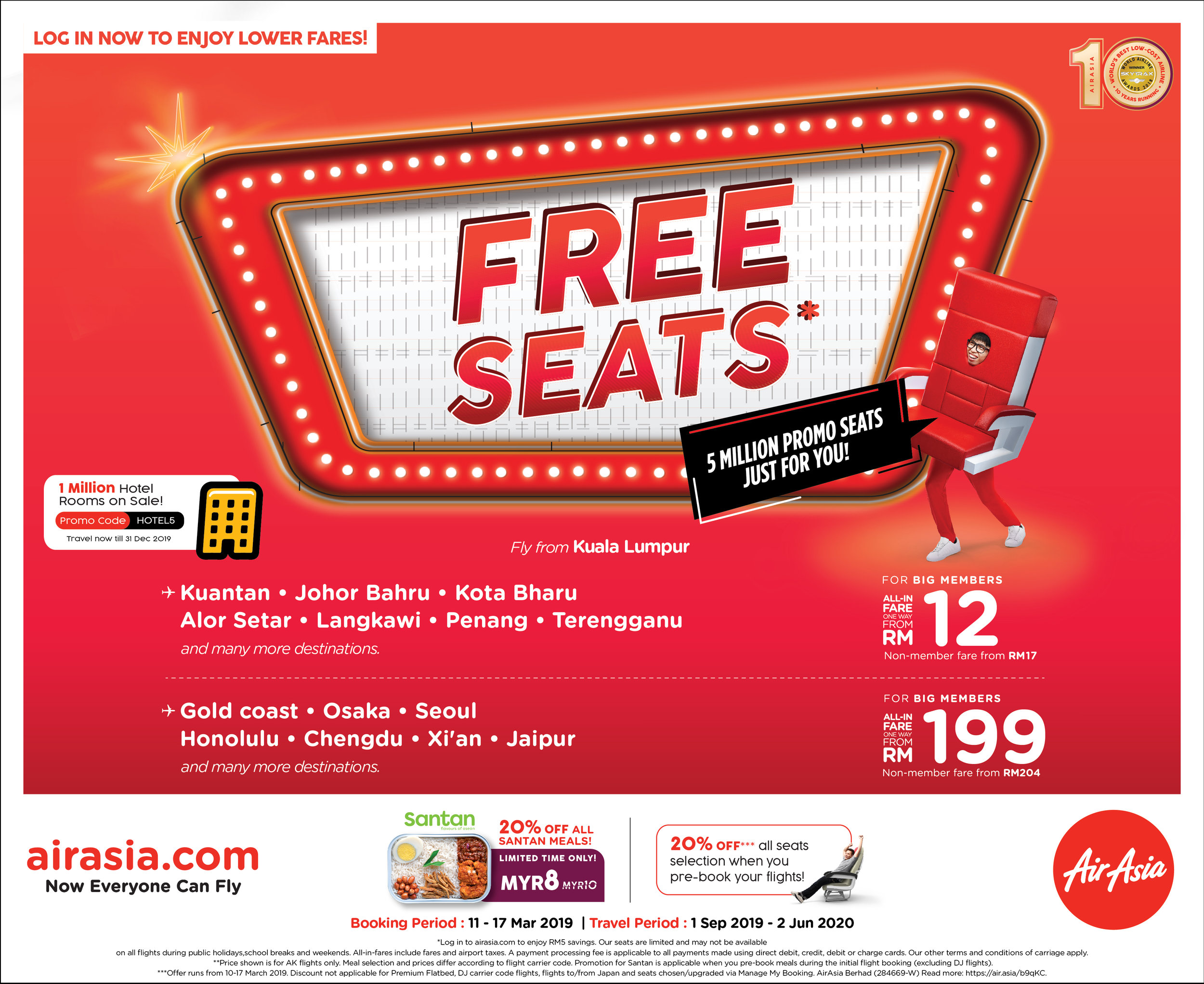 Air asia flight promotion