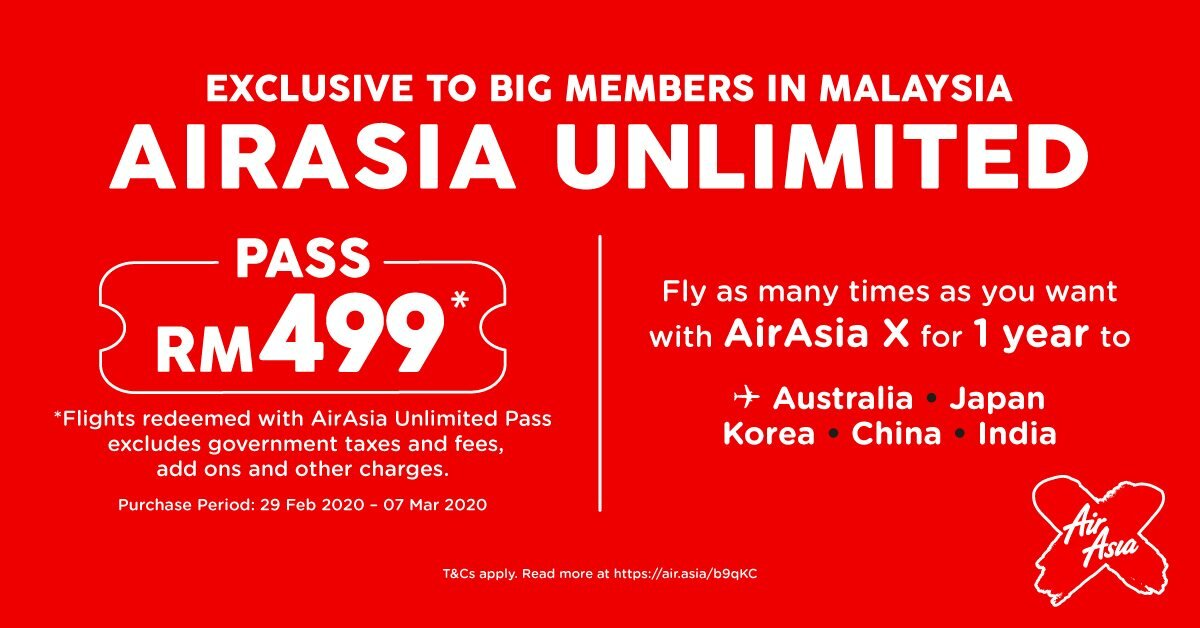 Airasia Unlimited Pass All You Can Fly For A Year Airasia Newsroom