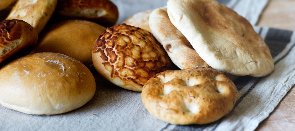 Brötchen - Pita,Bagels und Foccachia,Pão de Deus,Pão Tigre und vieles mehr