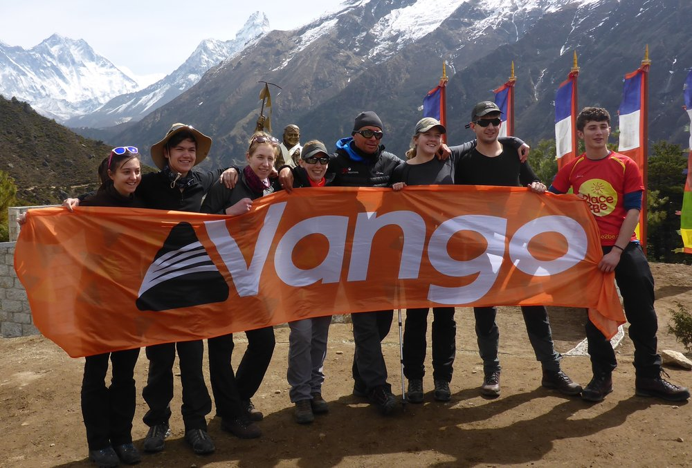 My fabulous DofE Gold team at the Tenzing Norgay memorial, above Namche Bazaar, Nepal. April 2015