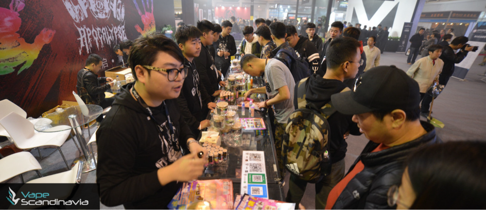 Apocalypse's booth at an international vape exhibition in Asia