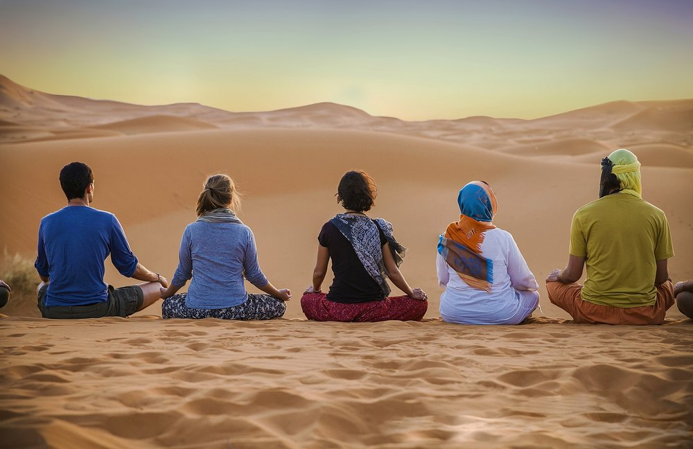 Morocco Gnawa Tours - Yoga in the Desert