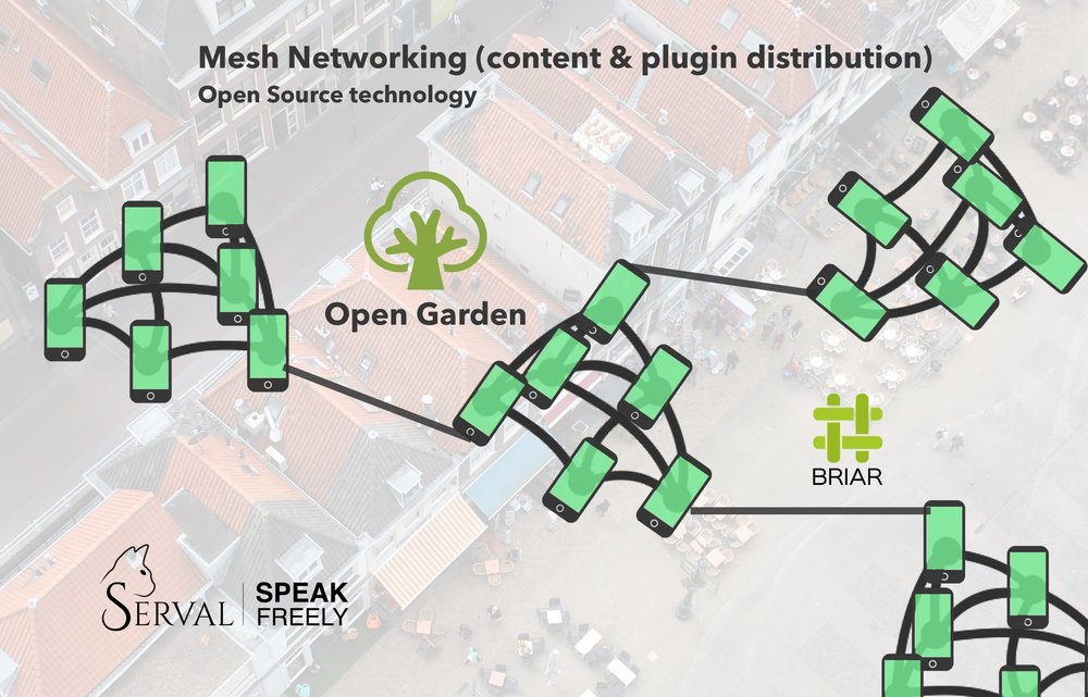 Network - We did research on (open source) mesh networking technologies.