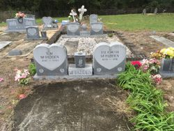 Gravesites for Tom and ella McFadden, buried in McFadden Cemetery in New Zion.