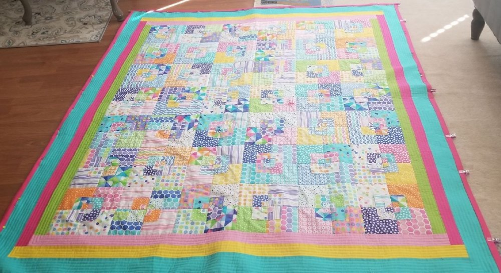 The front of the quilt.