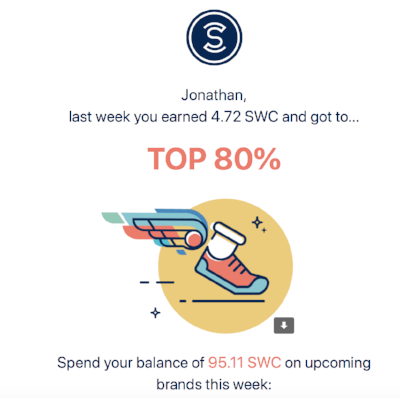 Email I got from Sweatcoin this week. This will become relevant soon.