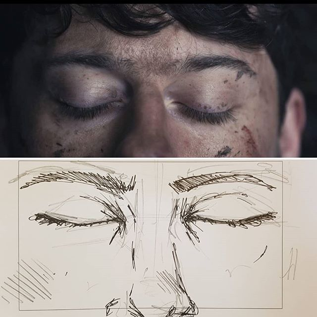Side by side comparison of the storyboard to final shot.  Seeing how my storyboards influenced the shots gives me such a rush of excitement and pride.  Fucking love this work! Film by Lauren Dallas