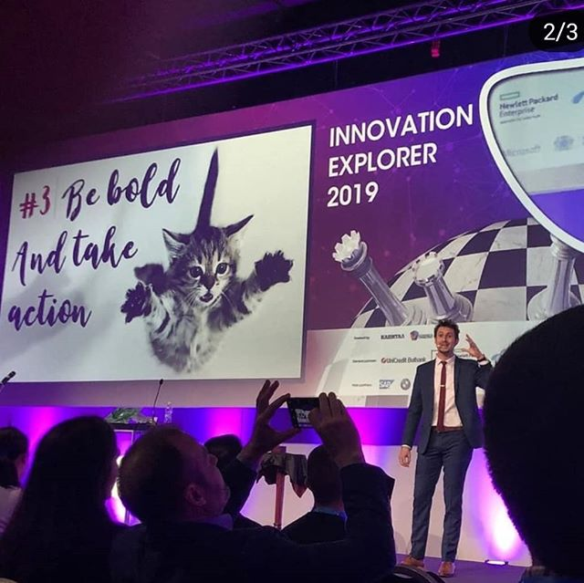 That's me on stage today at the innovation explorer event in #Sofia, Bulgaria . What an event with more than 1600 people in the room! I had a blast, thank you to the whole team for that! And I hope I gave some useful keys for the audience to be more innovative  everyday!  #creativity #innovation #innovative #entrepreneurlife #entrepreneurship #mindset #keynotespeaker #speaker #stage #creativityevent