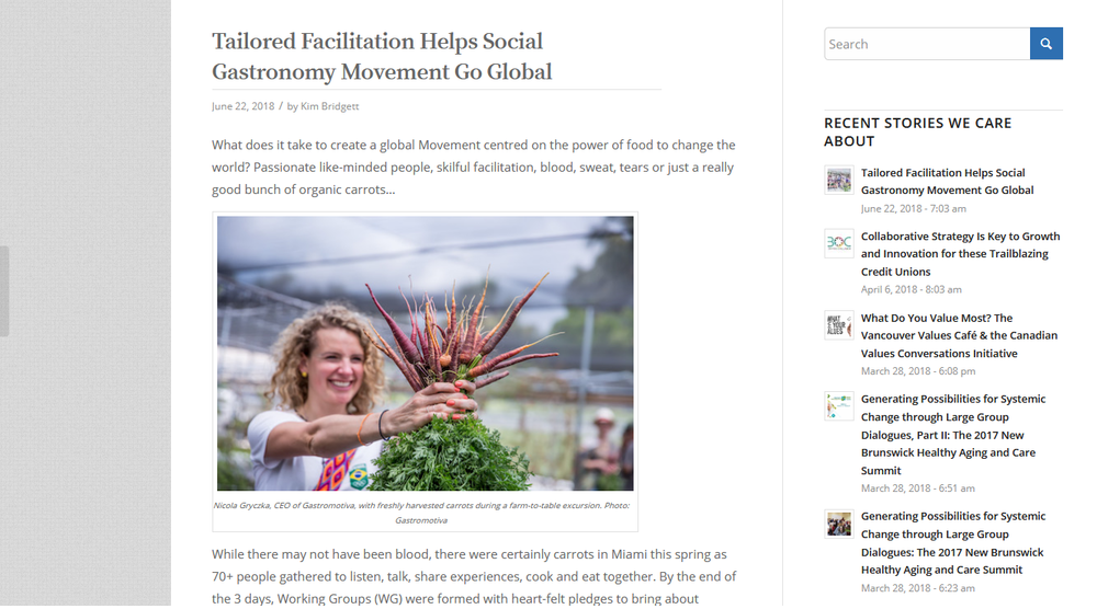 Charles Homes - Tailored Facilitation Helps Social Gastronomy Movement Go Global