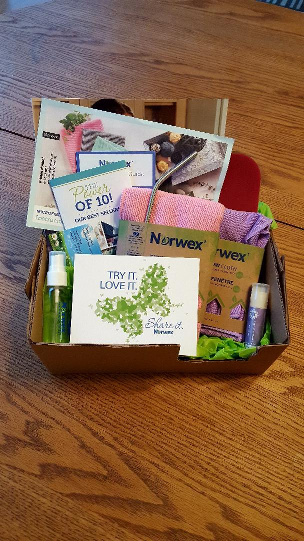 Norwex Gift Box, thanks to Kris Nonhof, amother of 5, who loves using and selling Norwex to help households in their mission to be clean and chemical free.