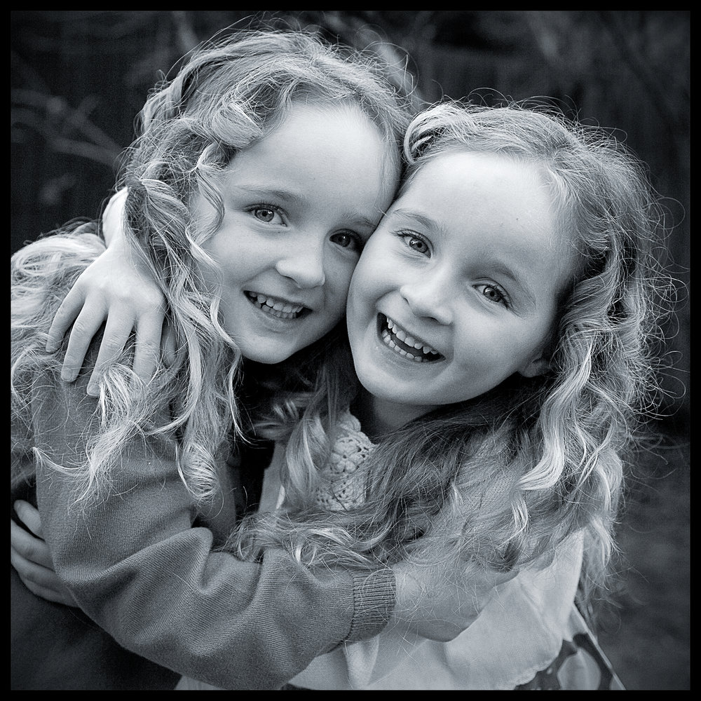 twin sisters portrait