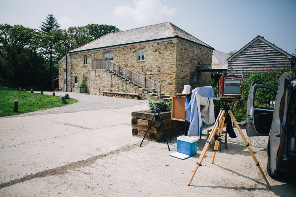 The Tintype Company on location at Nancarrow Farm, Cornwall