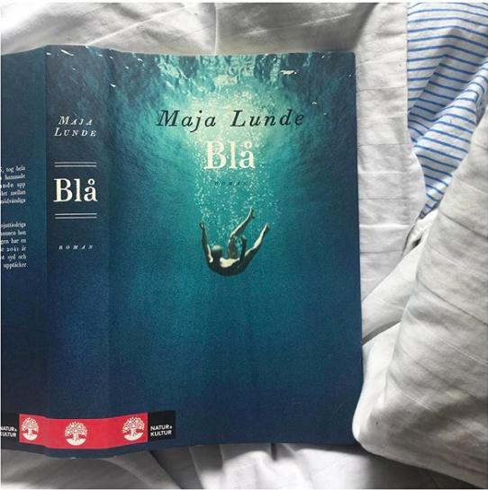 """Boken """"Blå"""" av Maja Lunde. Foto: Madeleine Persson från  Recensenten s instagram"""