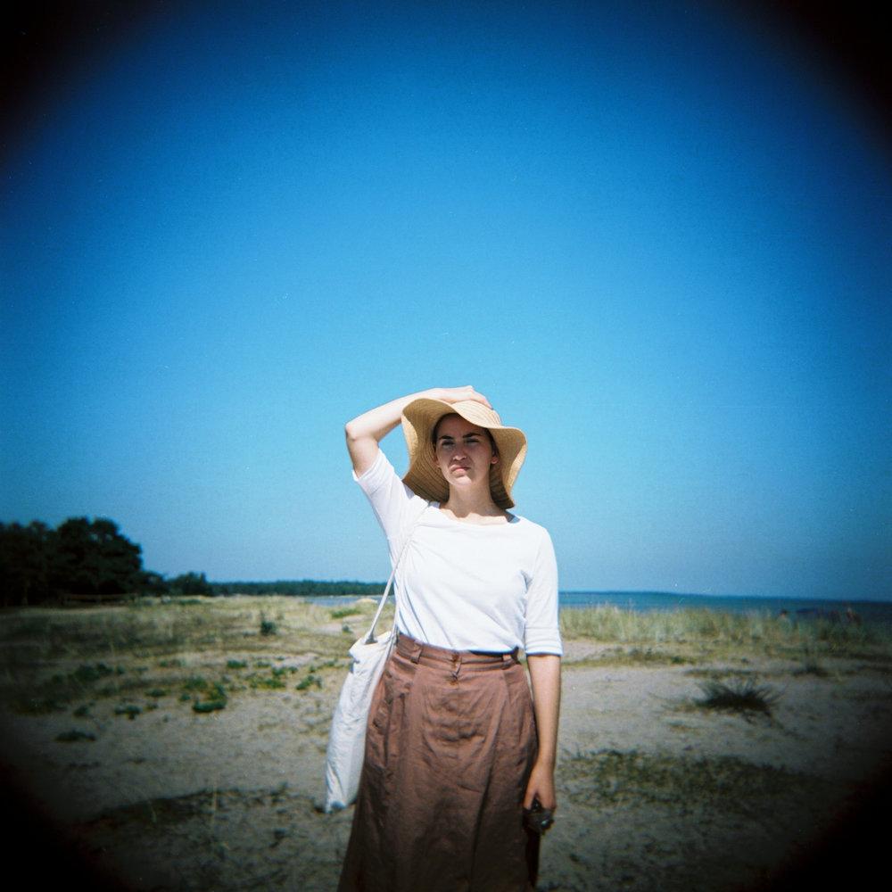 På Gotland i somras, tagen med min fina rosa Holga.