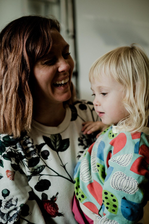 Angelica Hvass och dottern Franquie. Världens goaste unge med dom goaste kinderna.