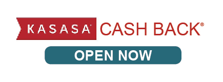 KASASA Cash Back Open Now