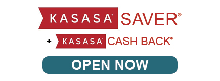 KASASA Saver Cash Back Open Now