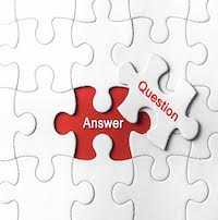 Question and answer puzzle