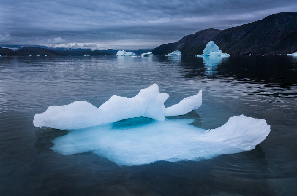 Floating Ice in Greenland