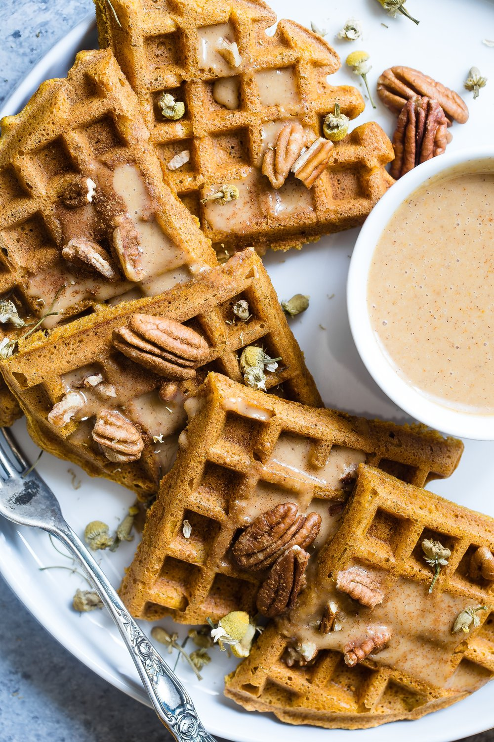 toffee-pecan-protein-waffles